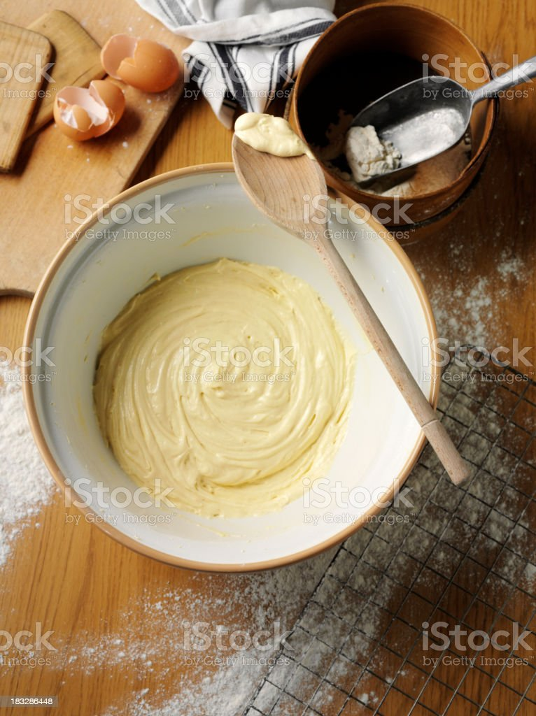Cake Mixture in a Bowl stock photo