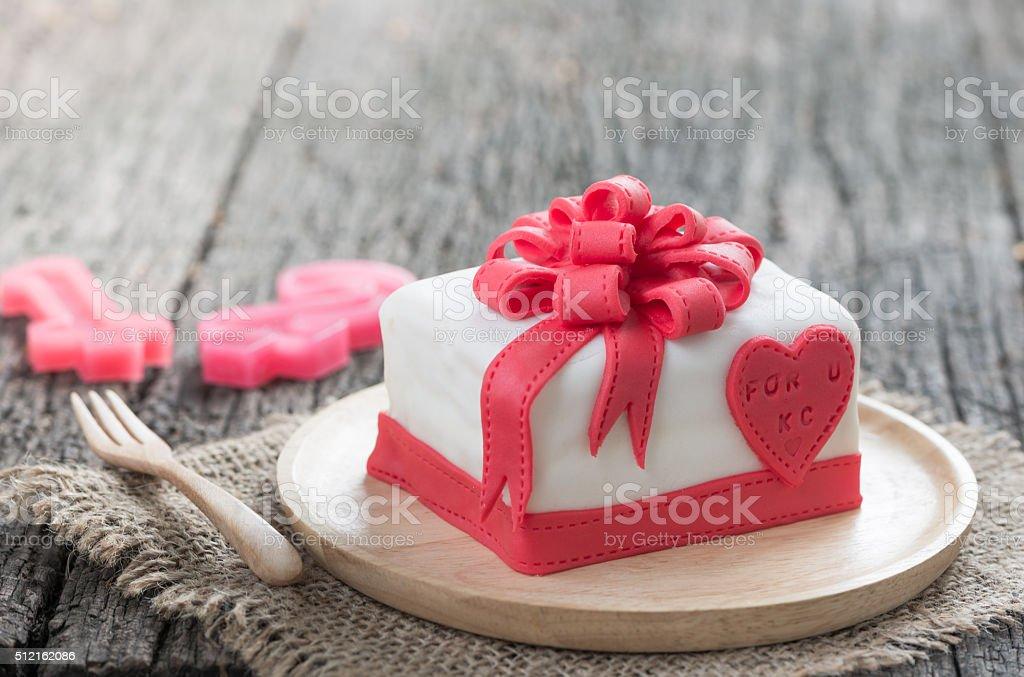 Cake Of Ribbon Box stock photo