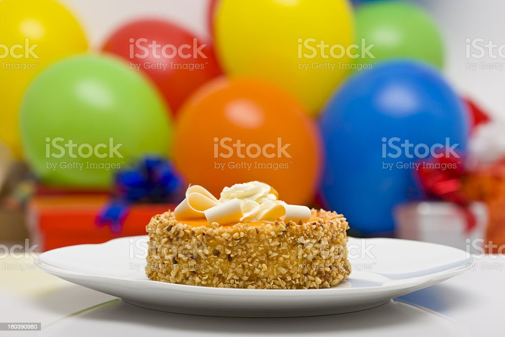 Cake on a plate royalty-free stock photo