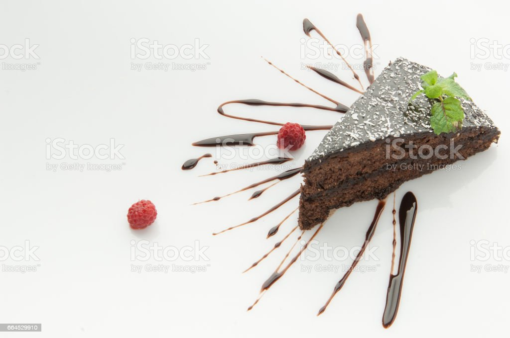 cake on a white background royalty-free stock photo
