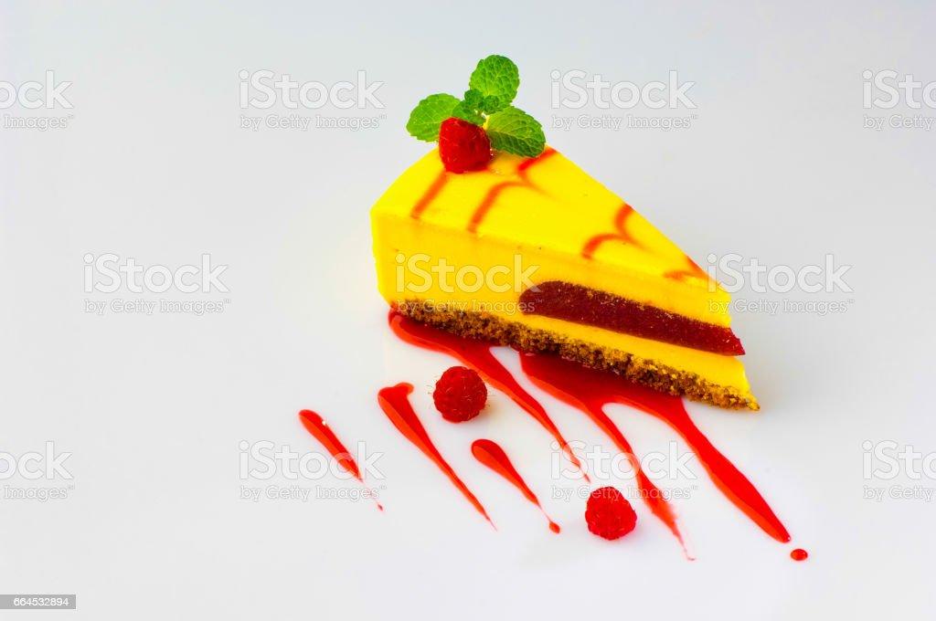 cake on a white background royalty-free stock photo