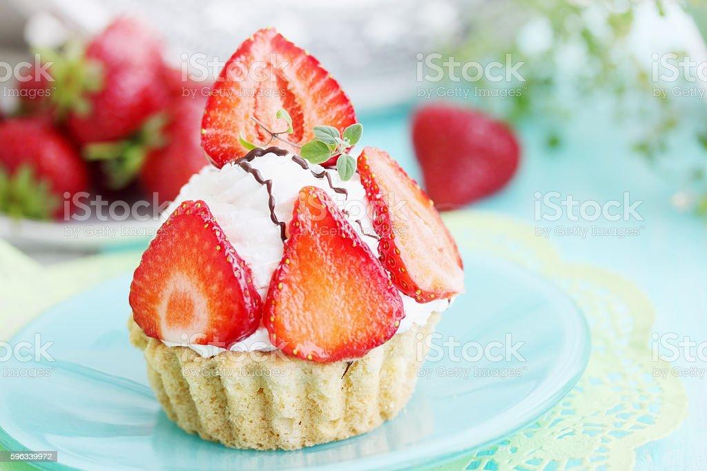 cake on plate, tinted Lizenzfreies stock-foto