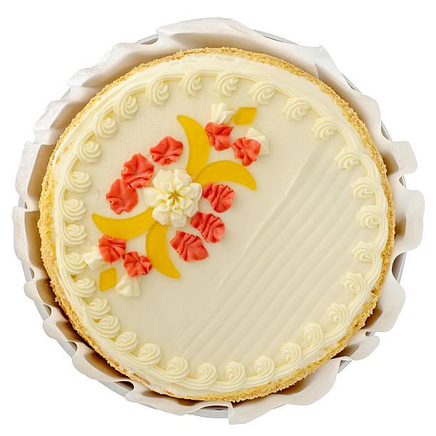 Cake on white stock photo