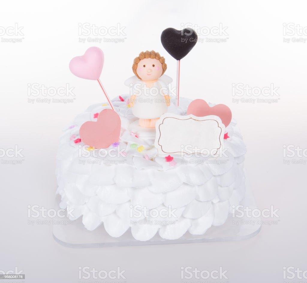 cake or ice cream cake on a background stock photo