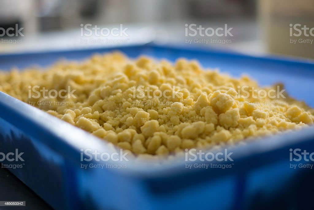 Cake or Pie Cumble Topping stock photo