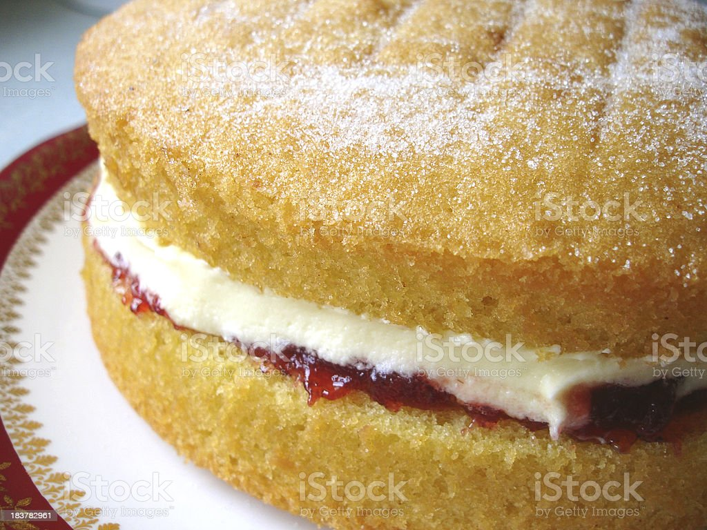 Cake (Victoria Sandwich) royalty-free stock photo