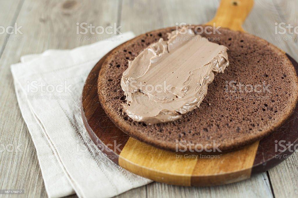 Cake preparation royalty-free stock photo