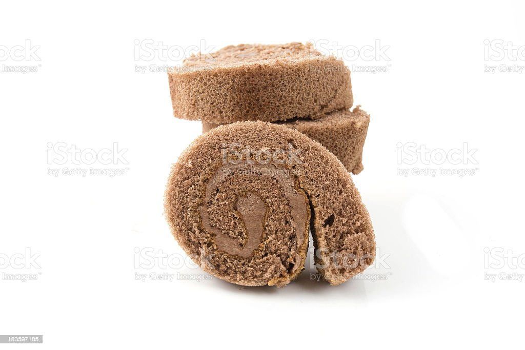 Cake roll stock photo