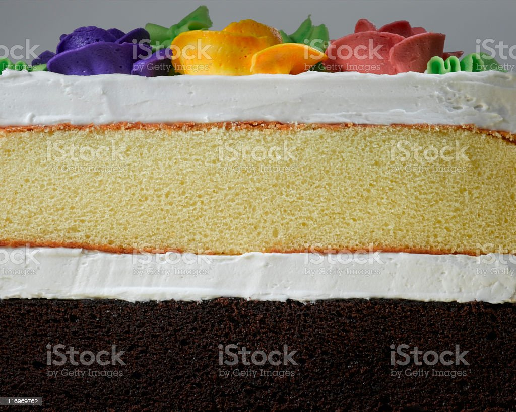 Cake slice stock photo