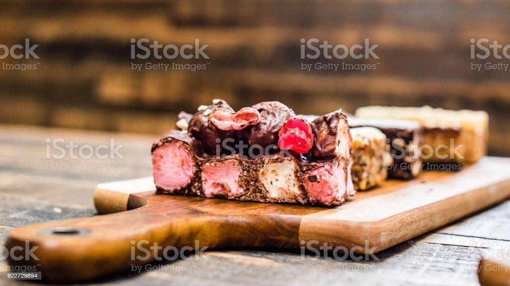 cake slices stock photo