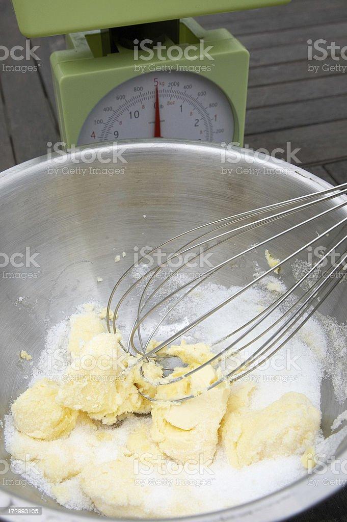 Cake sponge making ingredients royalty-free stock photo