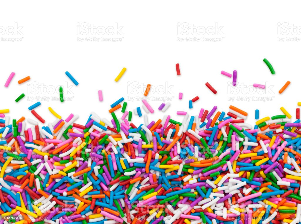 Cake Sprinkles Border (with path) stock photo