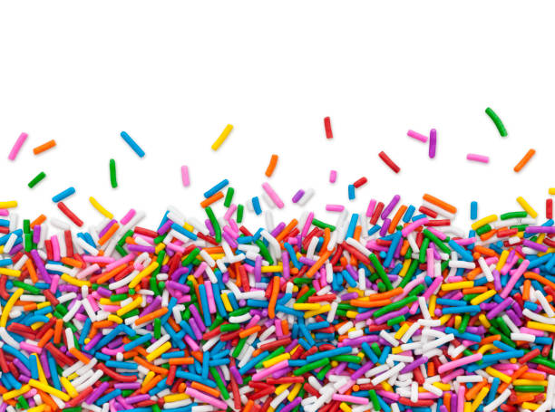 Cake Sprinkles Border stock photo