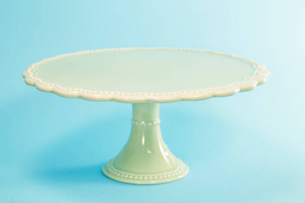 Cake stand Decorative cake stand on blue background cakestand stock pictures, royalty-free photos & images