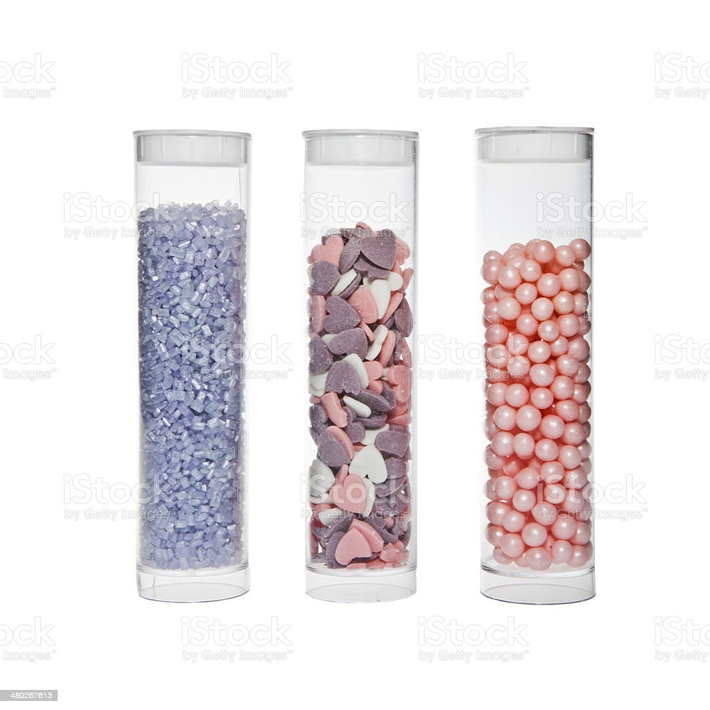 Cake toppings stock photo
