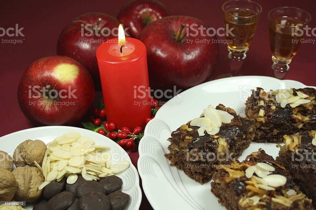 Cake with apples royalty-free stock photo