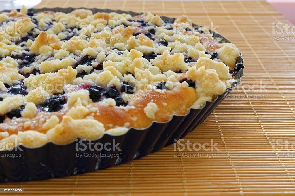 cake with blueberries stock photo