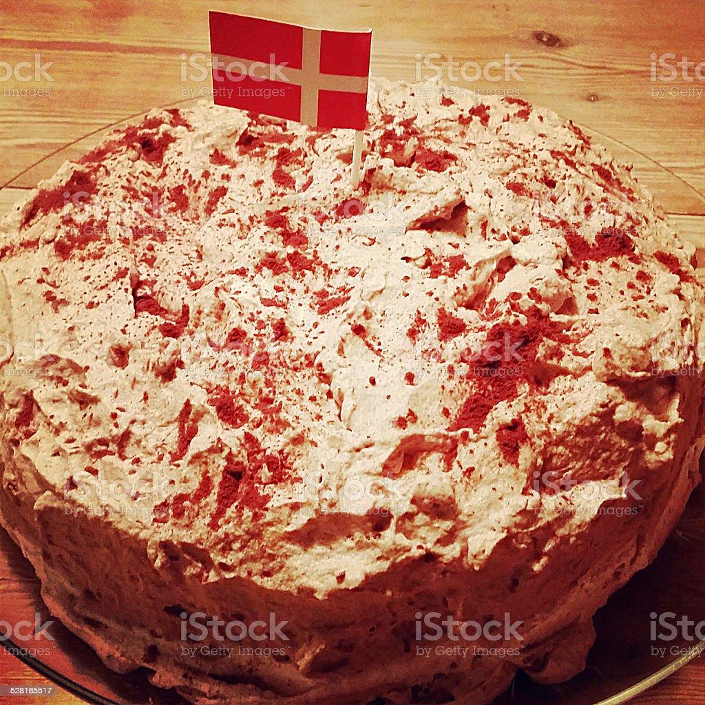 Pasta con bandera danesa - foto de stock