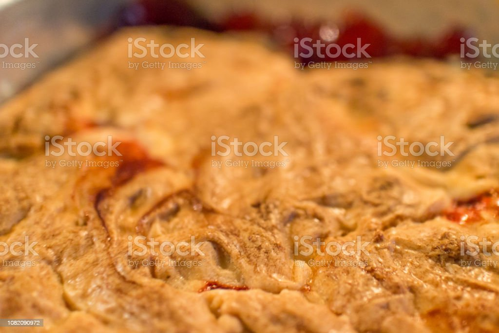 Cake with Fruit Filling stock photo