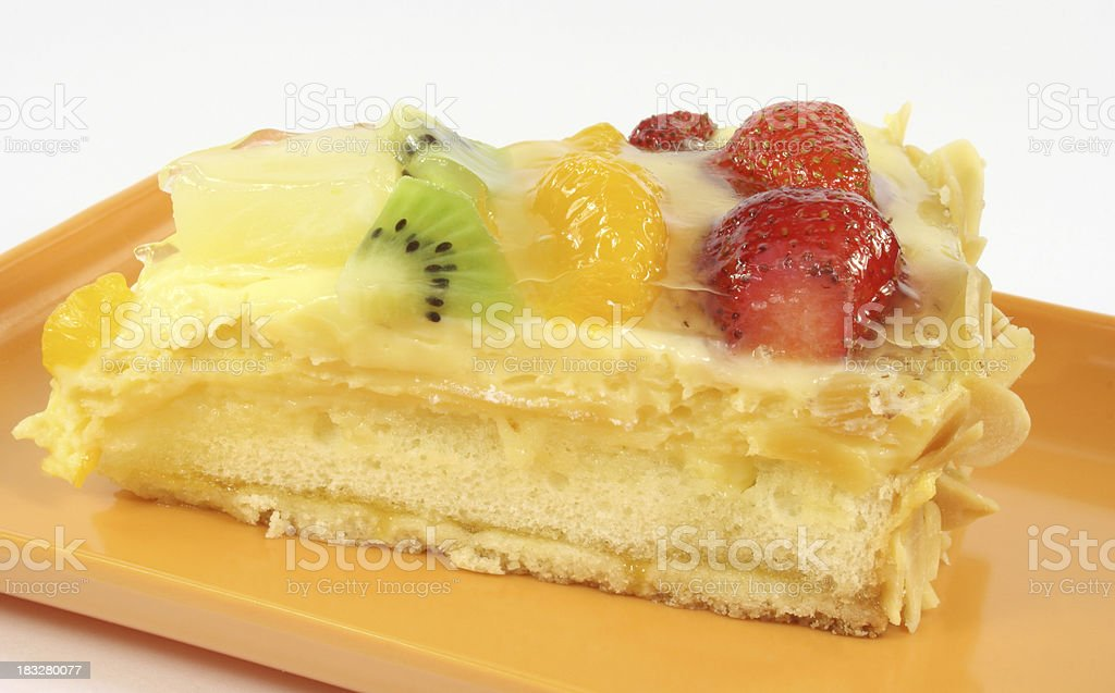 cake with fruit - Royalty-free Baked Pastry Item Stock Photo