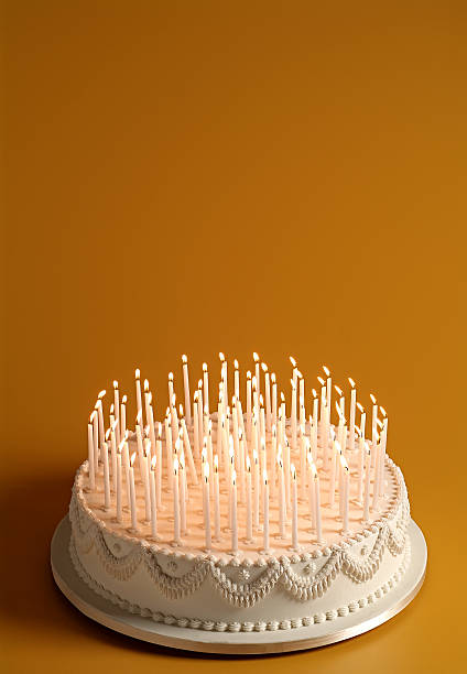 Best Birthday Cake With Lots Of Candles Stock Photos