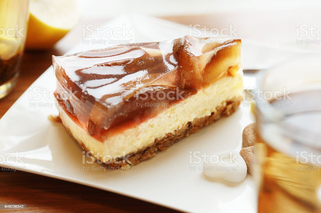 Cake with pear. stock photo
