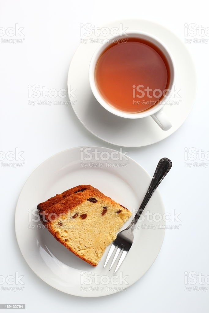 Cake with raisins stock photo
