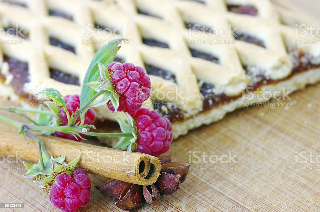 cake with raspberry and cinnamon royalty-free stock photo