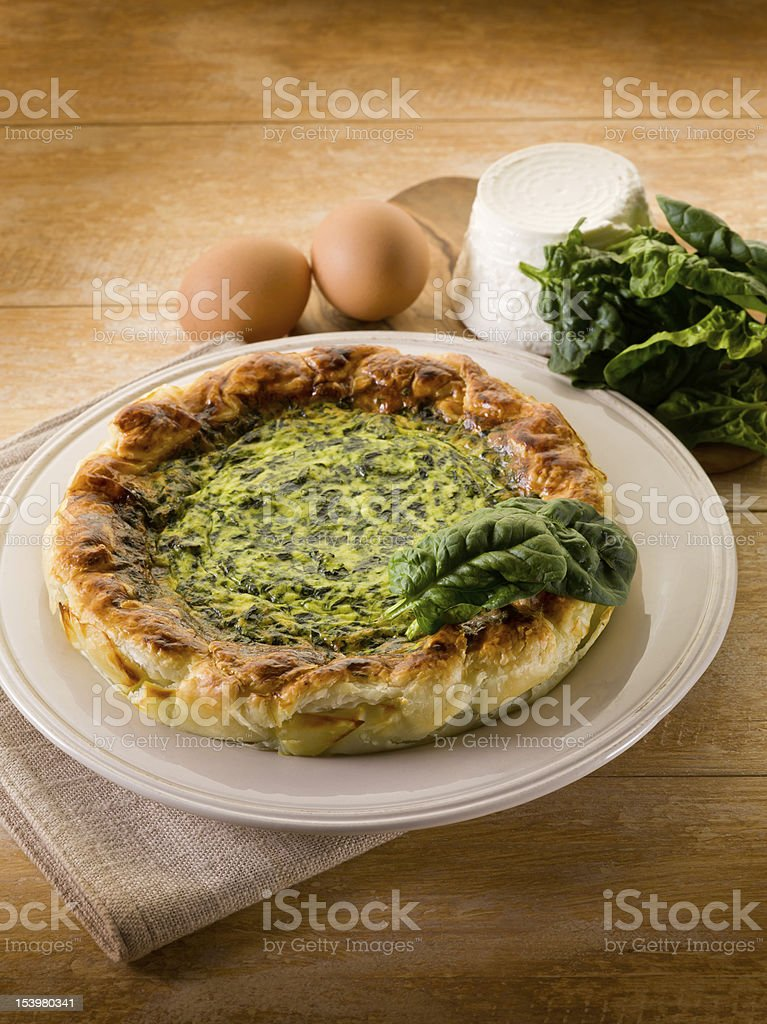 cake with ricotta and spinach royalty-free stock photo