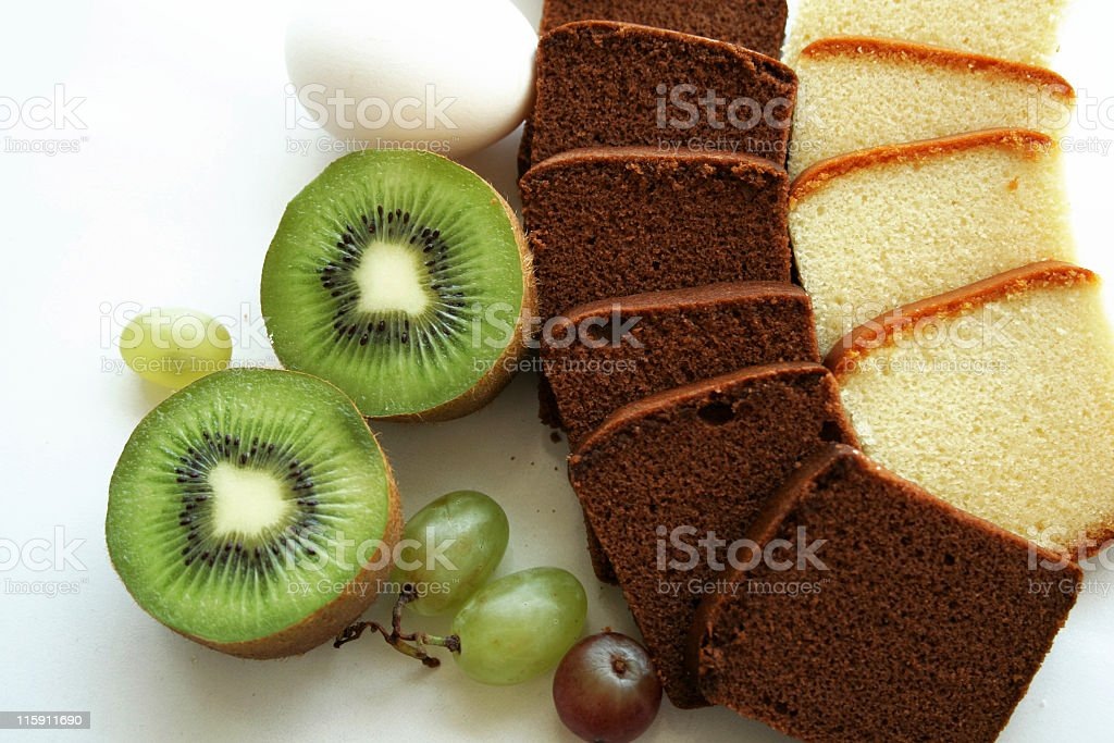 cakes and fruits royalty-free stock photo