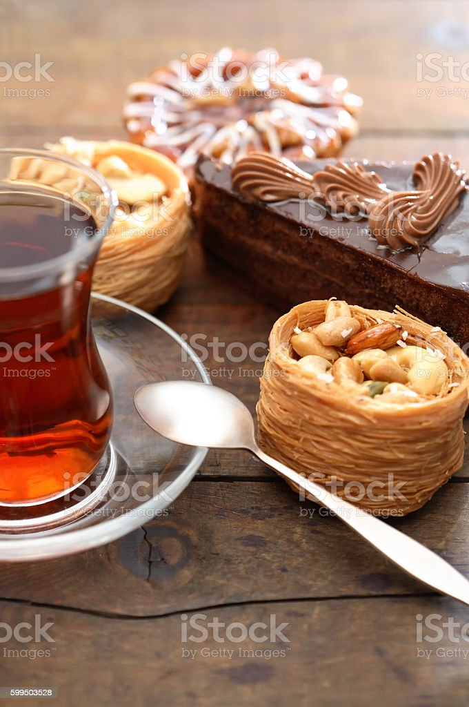 Cakes And Tea stock photo
