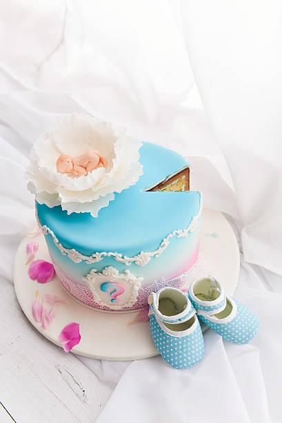 cakes for a baby shower - geschenk zur taufe stock-fotos und bilder