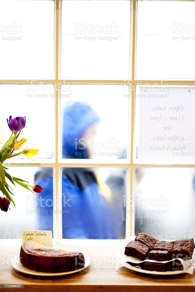Cakes on a cafe counter royalty-free stock photo