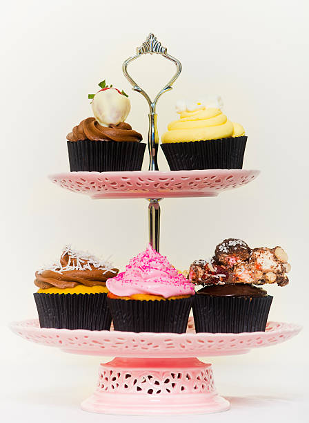 Cakes on a cakestand