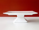 Empty chic cakestand on a table