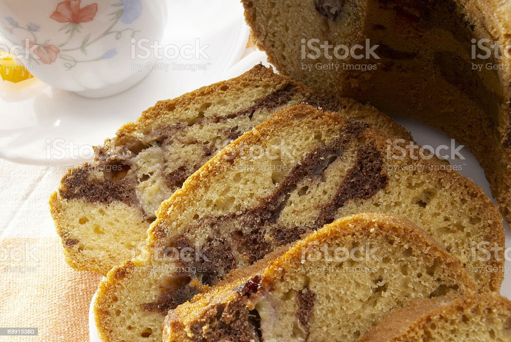 cake&tea royalty-free stock photo