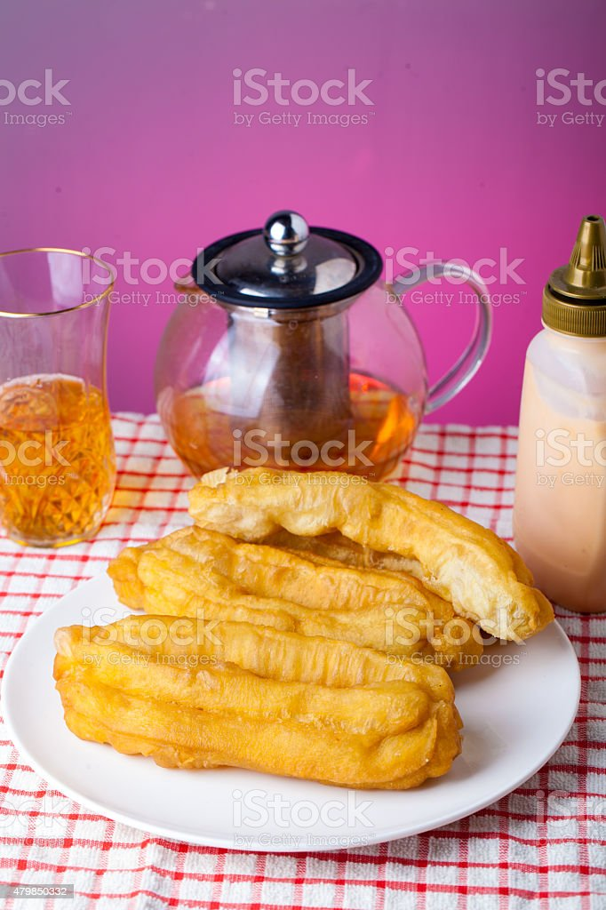 Cakwe Indonesian Traditional Food for breakfast stock photo