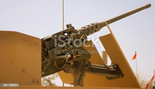 Detail of HMMWV Cupola-mounted .50 cal machinegun.