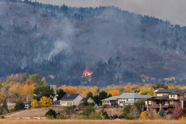 Cal Wood Fire Property Damage stock photo