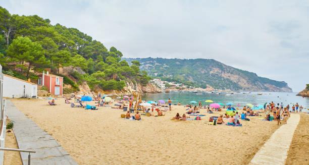 Cala Aiguablava, playa de Begur, Girona, Costa Brava, Cataluña, España. - foto de stock