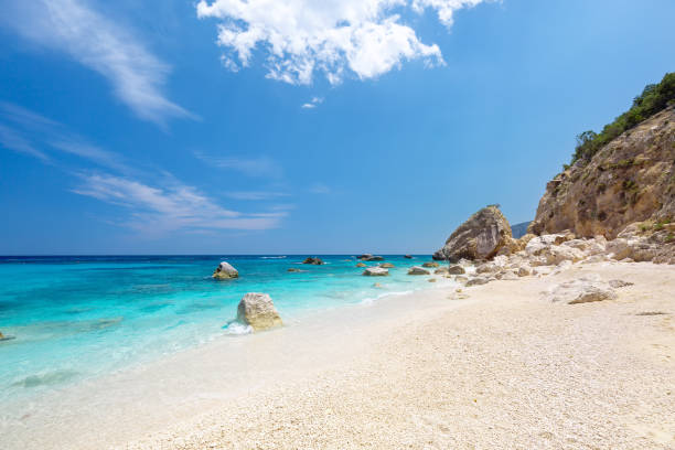 Cala Biriola beach in Sardinia Italy stock photo