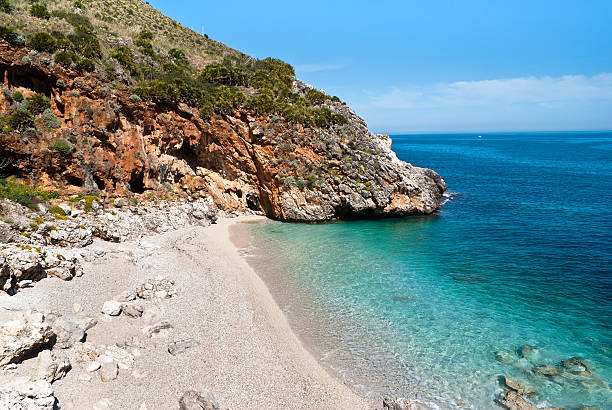 Cala capreria, Sicilia, Italia - foto stock