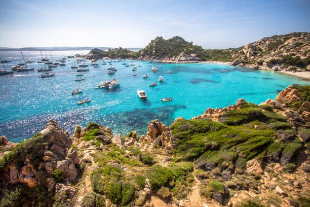 cala corsara, sardinia island, italy - sardegna foto e immagini stock