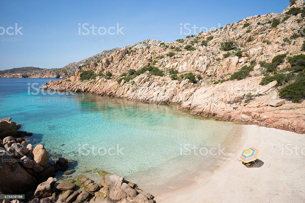 cala coticcio sunbathing stock photo