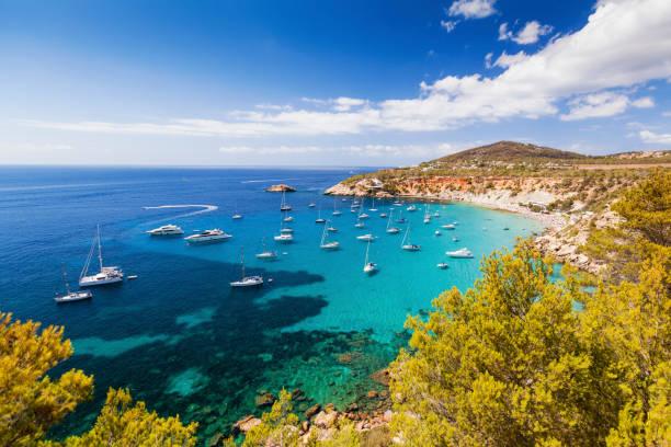cala d hort in balearic islands - ibiza imagens e fotografias de stock