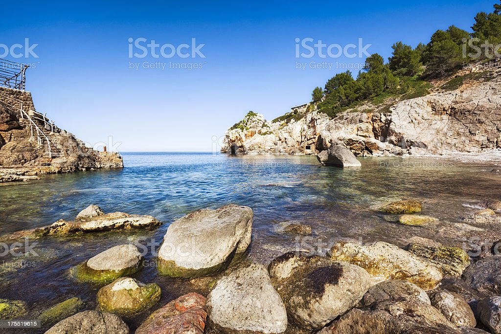 Cala de Deia of Majorca stock photo
