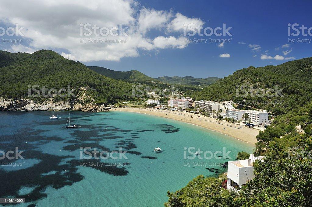 Cala de Sant Vicent, Ibiza Spain stock photo
