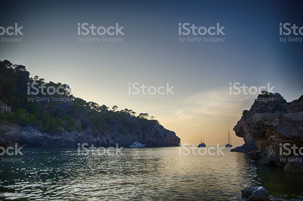 Cala Deia in Majorca stock photo