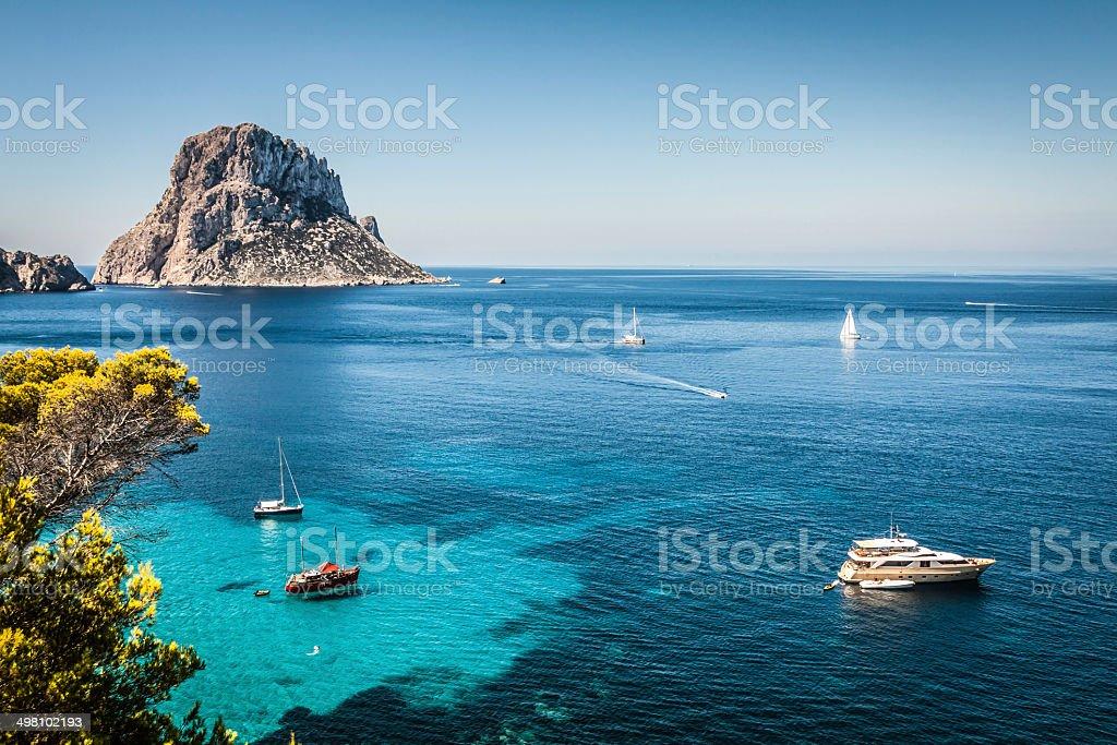 Cala d'Hort, Ibiza (Spain) stock photo