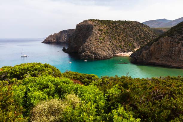 Cala Domestica beach stock photo